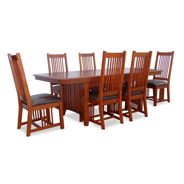 Kyra 7 Piece Extendable Dining Set by Loon Peak
