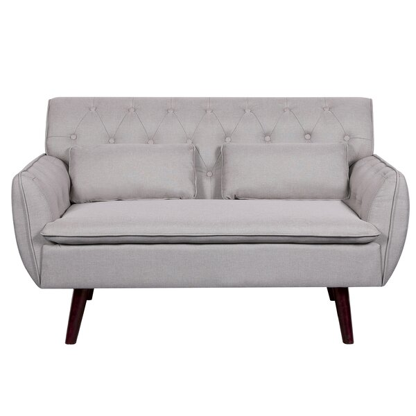 Nicolasa Linen Tufted Loveseat by Wrought Studio