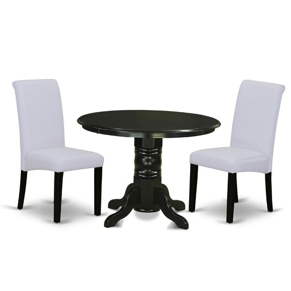 Parenteau Small Table 3 Piece Solid Wood Dining Set By Charlton Home Read Reviews