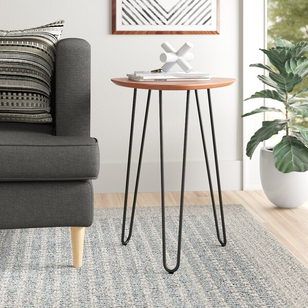 Margene Hairpin Leg Wood End Table by Zipcode Design