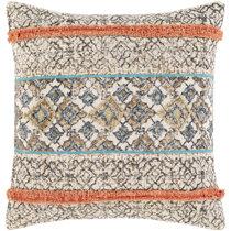 Custom ELIZABETH TAYLOR Unique Soft Cotton Velvet Striped 20x20 INDOOR Throw Pillow Velour Feel
