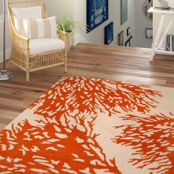 Juniper Hand-Tufted Beige / Terracotta Area Rug by Beachcrest Home