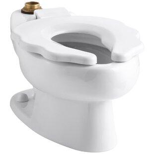 Primary 1.6 GPF Flushometer Valve 10-3/4 Elongated Toilet Bowl with Seat ByKohler