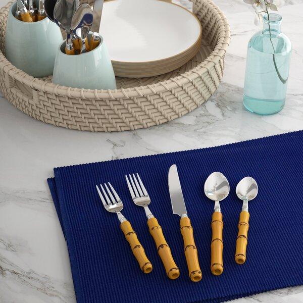 Allison 20 Piece 18/10 Stainless steel Flatware Set by Beachcrest Home