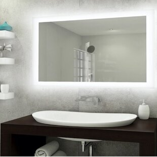 Compare Bones Backlit LED Bathroom/Vanity Mirror By Orren Ellis