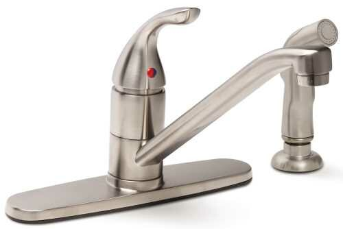Caliber Single Handle Kitchen Faucet with Side Spray by Premier Faucet