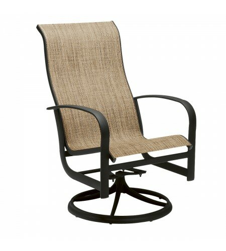 Fremont Swivel Patio Dining Chair by Woodard