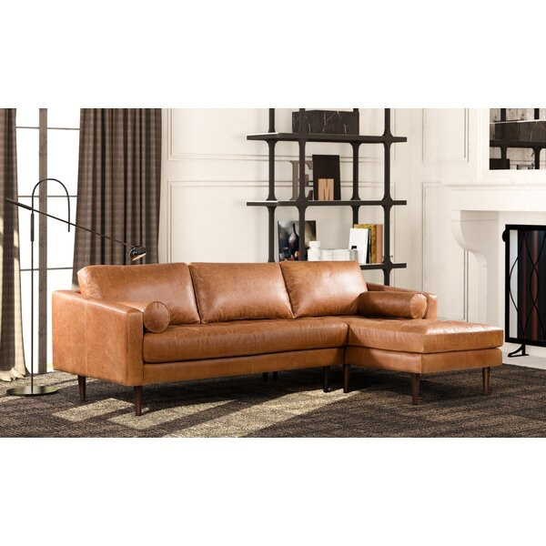 Trendy Modern Kate Leather Sectional by Foundry Select by Foundry Select