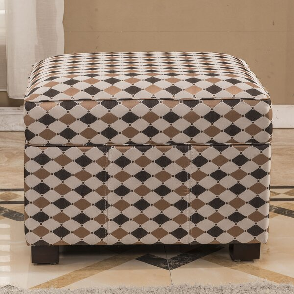 Plaid Storage Ottoman by Bellasario Collection