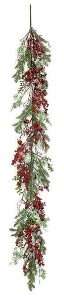 Snowy Boxwood and Pine Garland with Berry by The Holiday Aisle