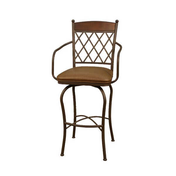 Anguila 30 Swivel Bar Stool by Bay Isle Home