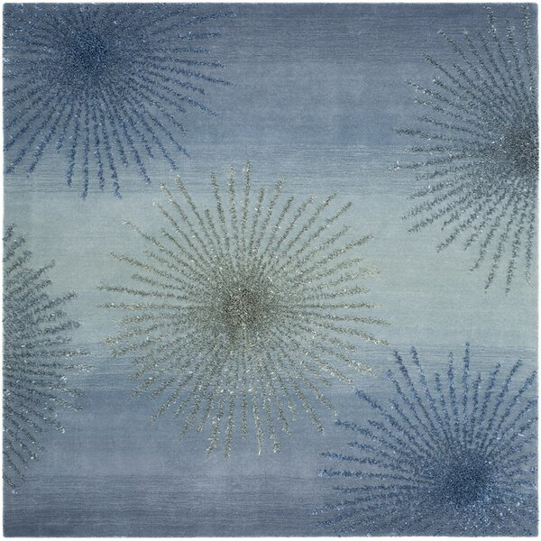 Germain Hand-Tufted Gray/Blue Area Rug by Three Posts