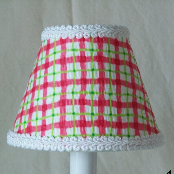 Cherry Plaid Night Light by Silly Bear Lighting