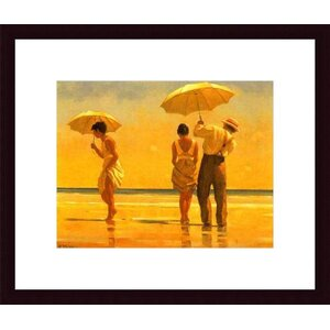 'Mad Dogs' by Jack Vettriano Framed Painting Print by Printfinders