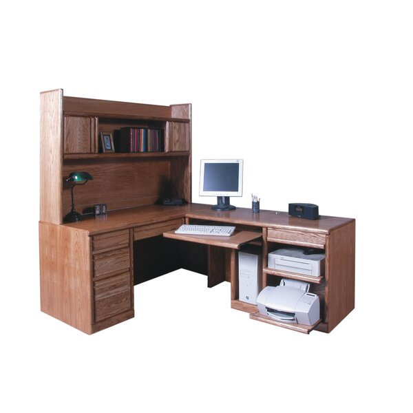 Lach Return L-Shape Executive Desk with Hutch by Loon Peak
