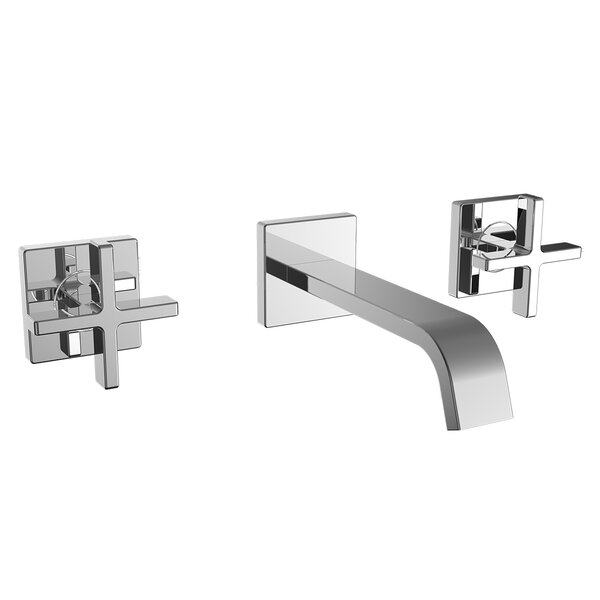 Lura Wall Mounted Bathroom Faucet with Drain Assembly