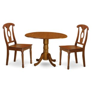 Savings Gloucester 3 Piece Dining Set by Charlton Home