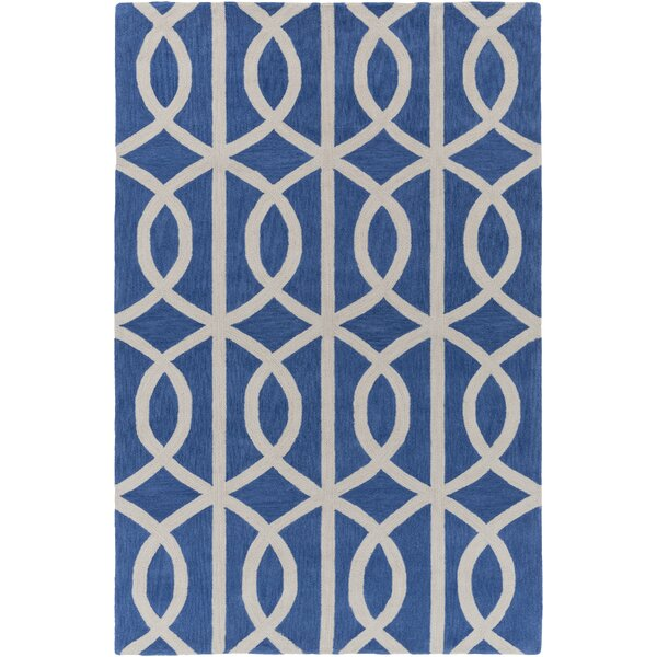 Gingrich Royal Blue/Ivory Area Rug by Ivy Bronx