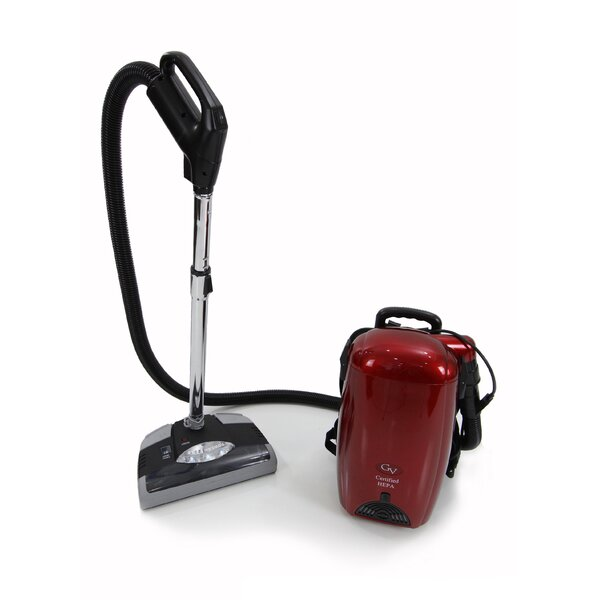 8-qt. Light Powerful HEPA BackPack Vacuum by GV
