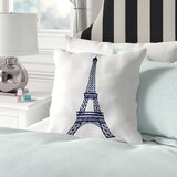 Eliza Eiffel Tower Throw Pillow