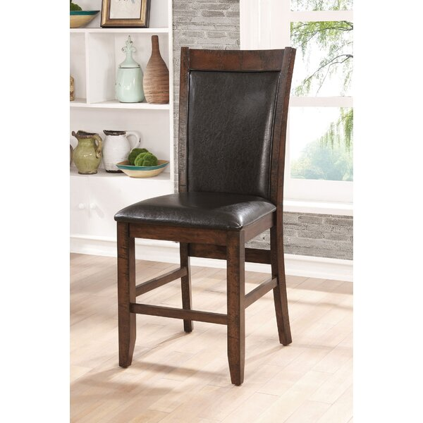 Herbert Counter Height Upholstered Dining Chair (Set of 2) by Loon Peak