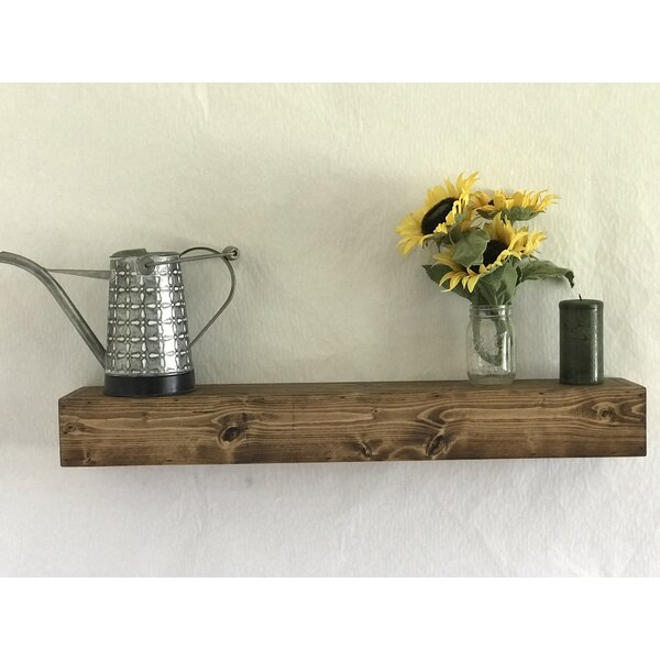 Reclaimed Wood Floating Shelf by Essex Hand Crafted Wood Products