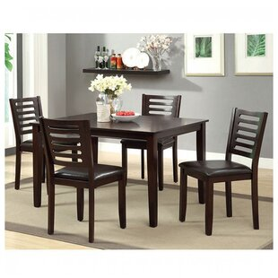 Cremont 5 Piece Solid Wood Dining Set By Latitude Run