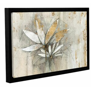 'Windflowers Gold Crop' by Avery Tillmon Framed Painting Print by Andover Mills