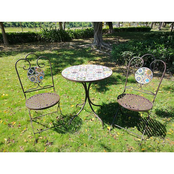 Meraz 3 Piece Bistro Set by Fleur De Lis Living