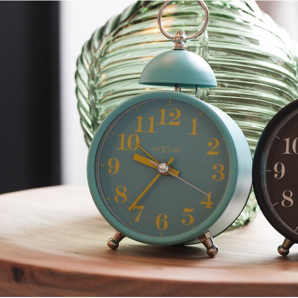 Single Bell Alarm Tabletop Clock by August Grove