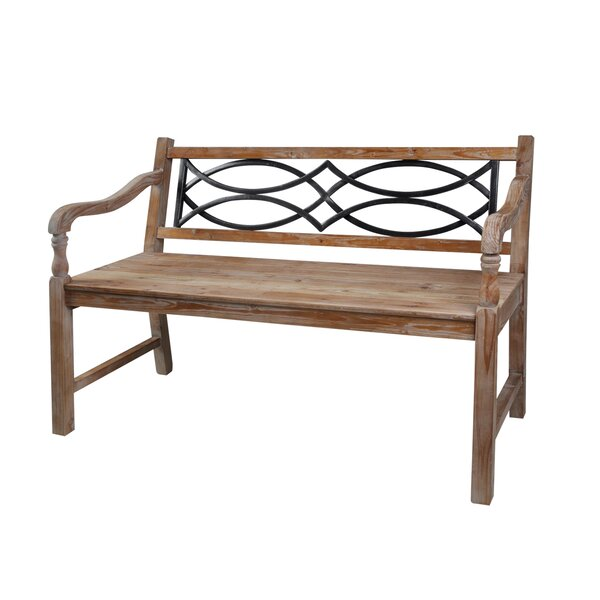 Crescent Outdoor Re-Claimed Wood Garden Bench by August Grove