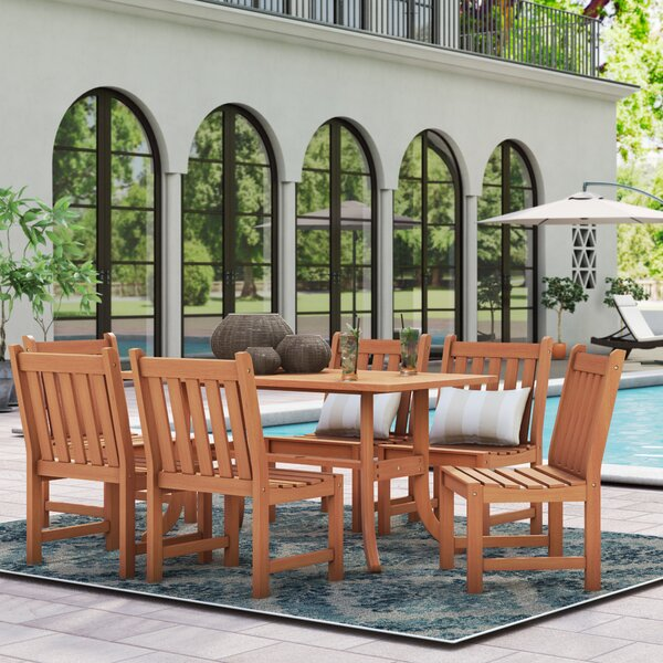 Amabel Classic 7 Piece Dining Set by Beachcrest Home