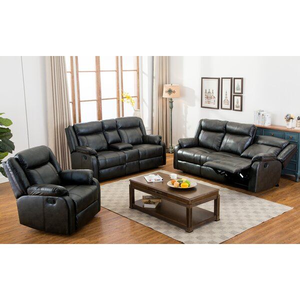 Novia Reclining 3 Piece Living Room Set by Roundhill Furniture