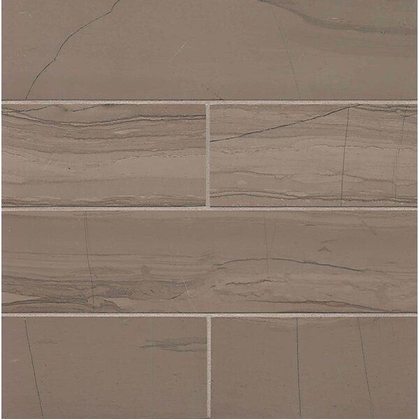 Maison 3 x 12 Marble Field Tile in Grey by Bedrosians