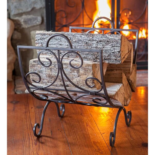 Crest Scrollwork Fireplace Steel Log Carrier by Plow & Hearth