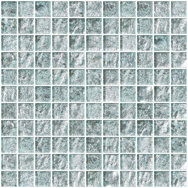 1 x 1 Glass Mosaic Tile in White Gold by Susan Jablon