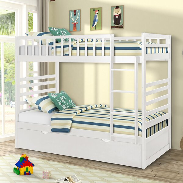Hermanson Bunk Bed with Trundle by Harriet Bee