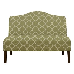 Heitmann Armless Arched Back Upholstered Loveseat by Winston Porter