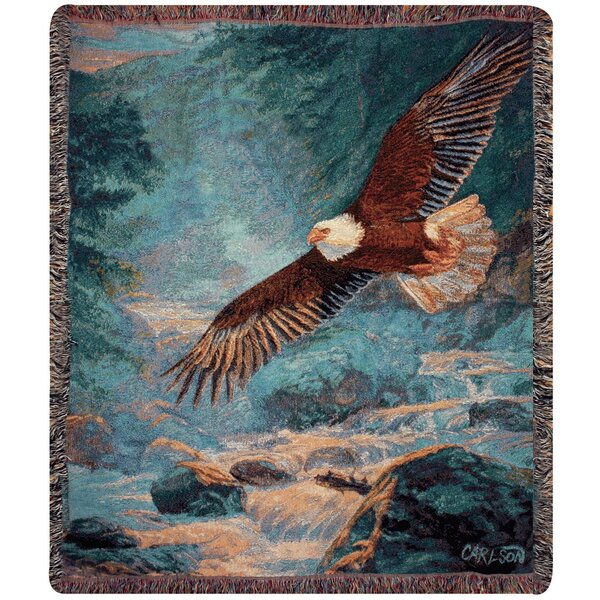 American Majesty Tapestry Cotton Throw by Manual Woodworkers & Weavers