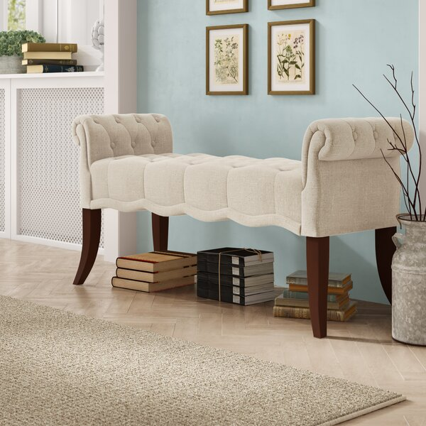 Campbell Roll Arm Upholstered Bench by Ophelia & C