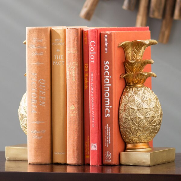 Gustave Resin Decorative Book Ends by Beachcrest Home