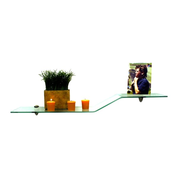 Floating Glass Shelves Wall Shelf by Spancraft Glass