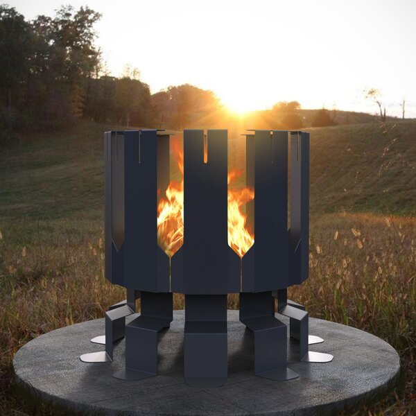 Ion Steel Wood Fire Pit by Decorpro