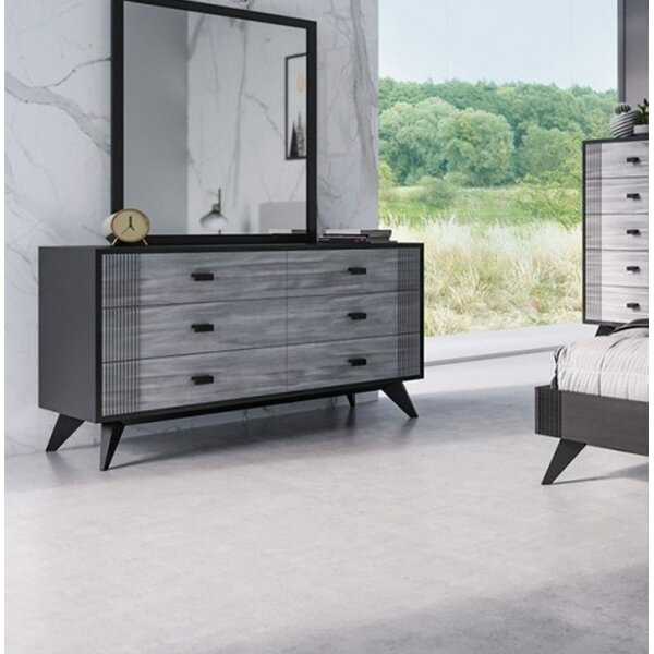 Donham 6 Drawer Double Dresser with Mirror by Ivy Bronx