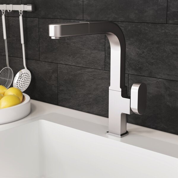 Azura Pull Out Single Handle Kitchen Faucet by Houzer