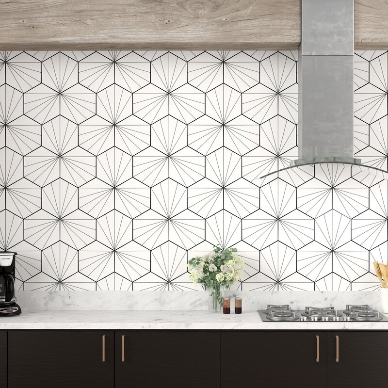 Misha Hex 9 X 10 Porcelain Field Tile