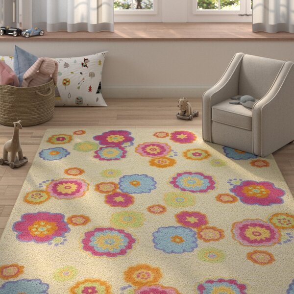 Claro Beige/Pink Area Rug by Harriet Bee