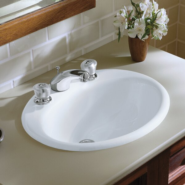 Farmington Metal Oval Drop-In Bathroom Sink with Overflow by Kohler