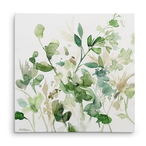 'Sage Garden I' Oil Painting Print on Wrapped Canvas by Winston Porter