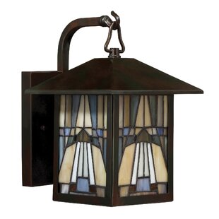 Best Choices Bush 1-Light Outdoor Wall Lantern By Loon Peak